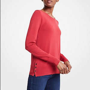 NWT Ann Taylor Side Button Pullover Sweater XL